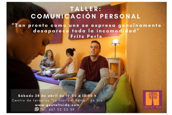 Nuevo taller: «Comunicación Personal» en Vic